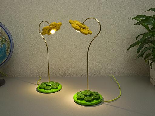 Flower Power bureaulampje