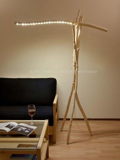 vloerlamp ledverlichting populierenhout