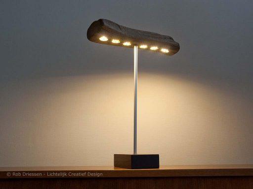 bureaulamp drijhout