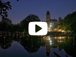 lichtinstallatie vijver 's nachts - 2014