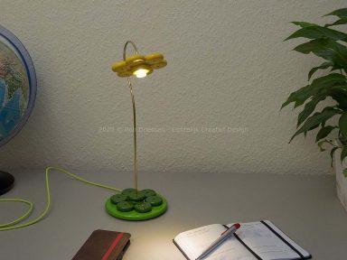 bureaulampje Flower Power